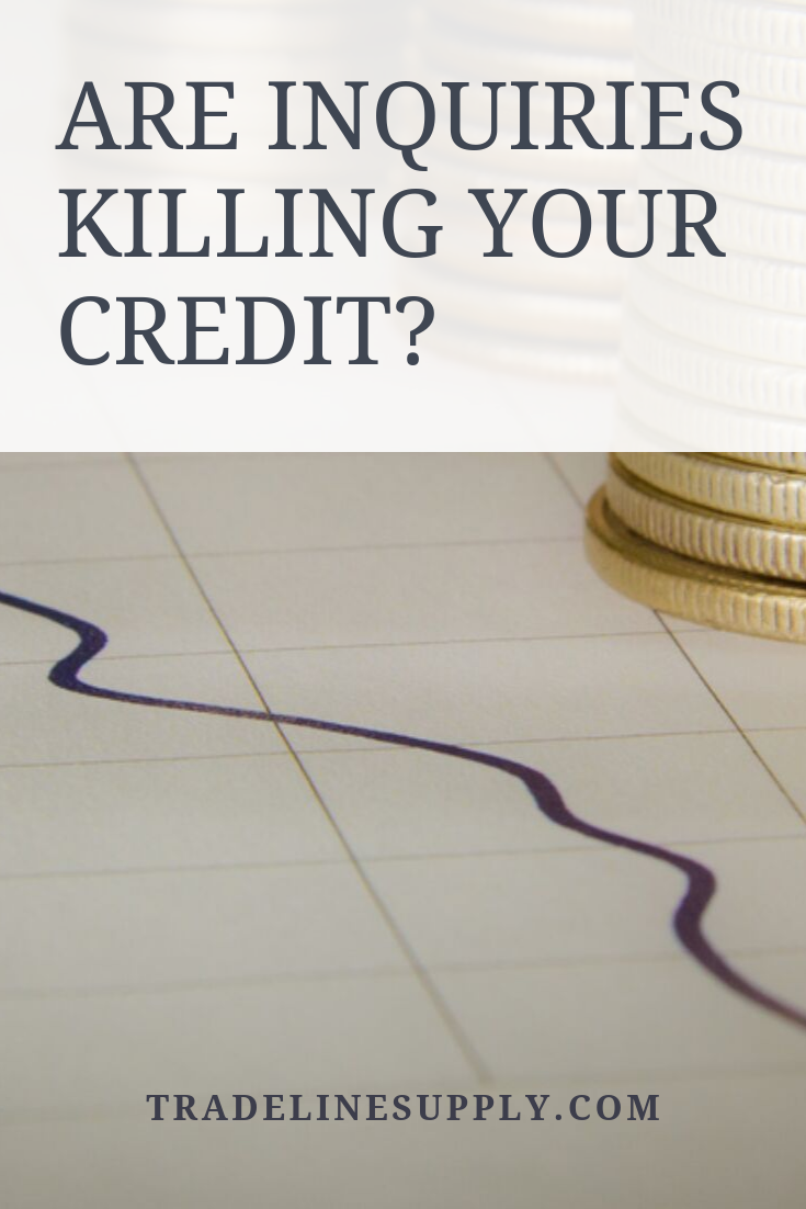 Are Inquiries Killing Your Credit? Pinterest graphic