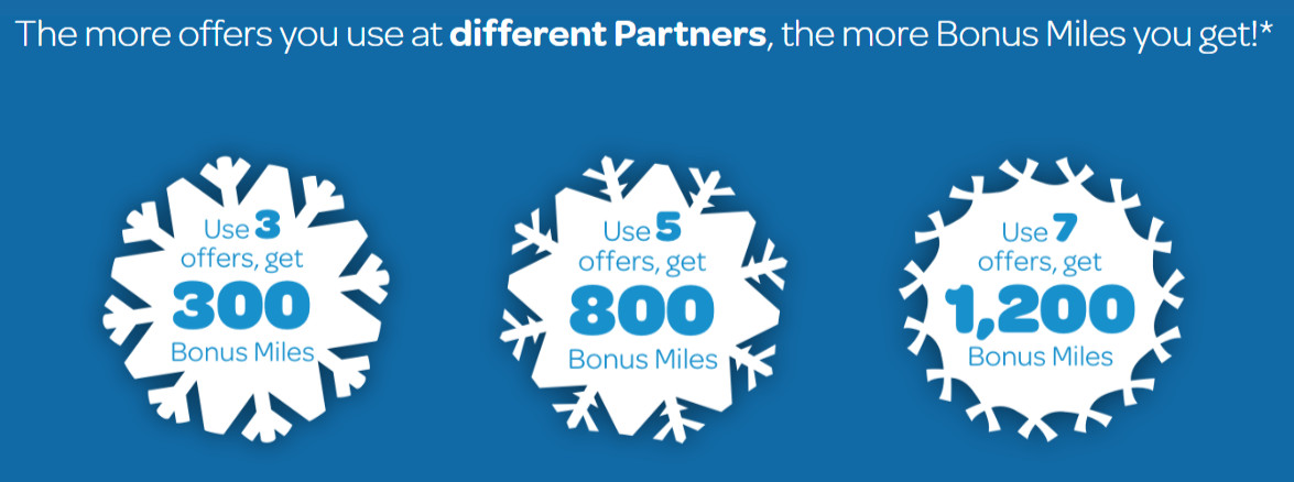 Offers at different sponsors to get your Air Miles bonus