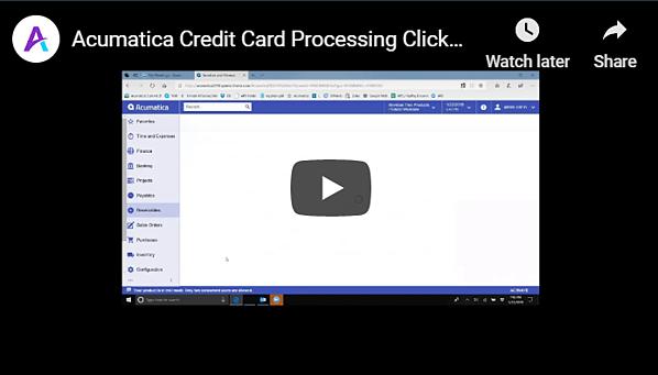 ClickToPay Acumatica Video
