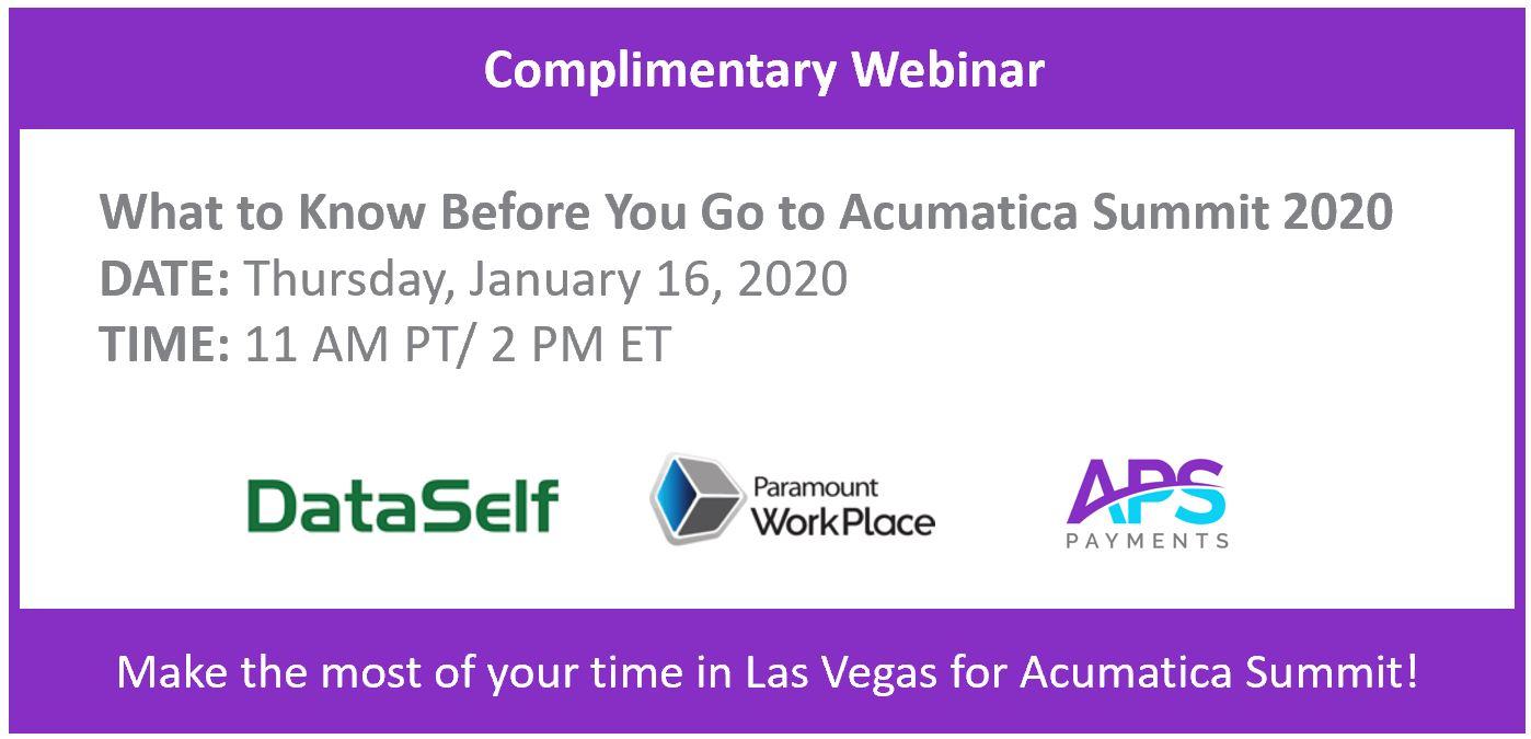 Acumatica Summit Webinar
