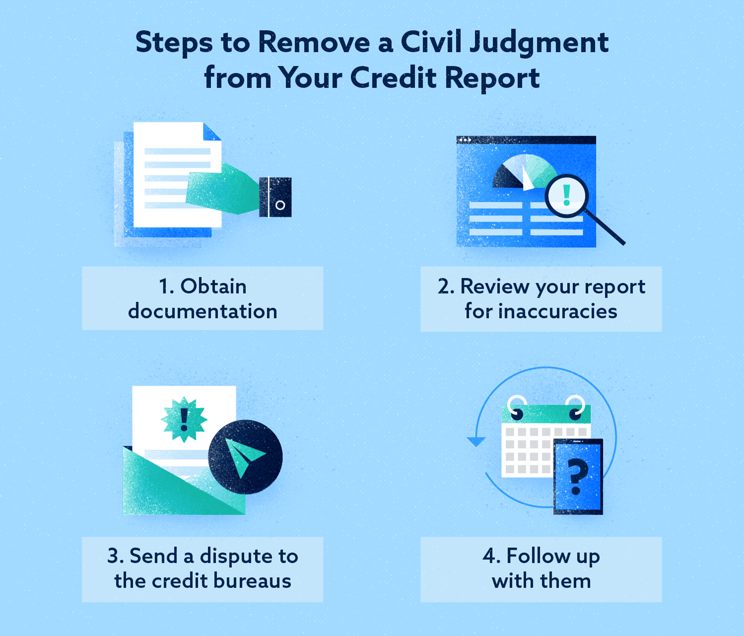 Steps to Remove a Civil Judgement from Your Credit Report Image