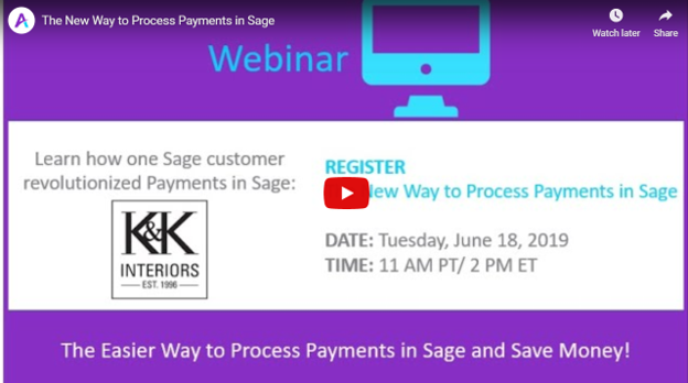 Sage Payment Processing