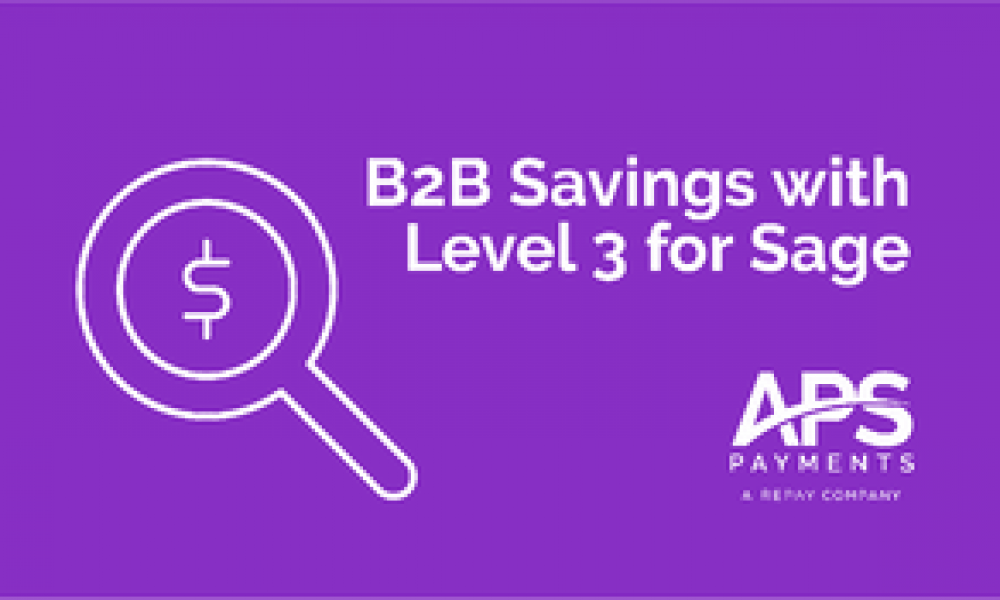 Securing B2B Level 3 Savings for Your Sage Payment Needs