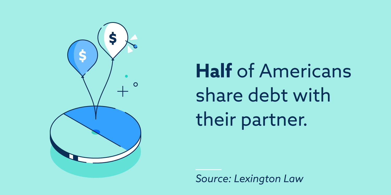 Half of Americans share debt with their partner.