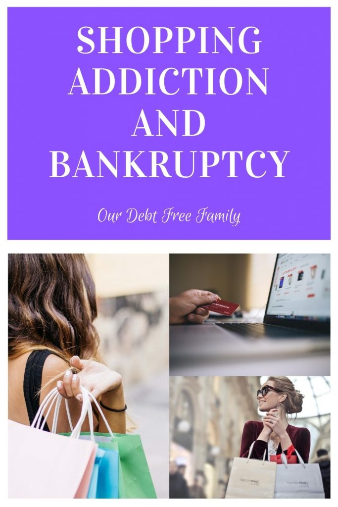 Shopping addiction and bankruptcy